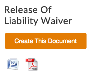 Construction Release Of Liability Waiver Form